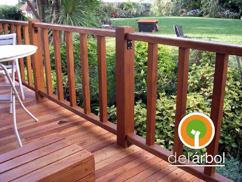 Barandas de madera para exteriores Balcones madera exterior